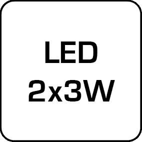 10-led2x3w